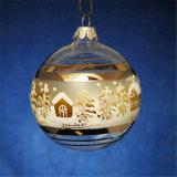 Hochwertige kostenlose Probe Weihnachten Glas Ball Licht für Weihnachtsdekoration