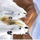 100%Polyester weißes Horse2 Pigment&Disperse druckte Gewebe für Bettwäsche-Set