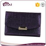 最新のデザインすみれ色の財布の札入れの本革