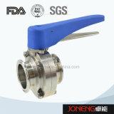 Vleugelklep van de Verwerking van het Voedsel van het roestvrij staal de Plastic Handvat Vastgeklemde (Jn-BV2004)