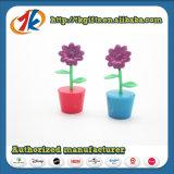 Jouets réglés de fleur et de raccord en caoutchouc de bac d'usine de jeu de jardin de jouets d'école maternelle