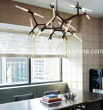2017 tubo moderno di stile Metal+Glass che appende lampada Pendant per la decorazione della sala da pranzo