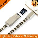 De Kabel van de Gegevens van de bliksem + de Lezer van de Kaart voor de Aandrijving van de iPhoneOTG Flits USB (yt-RC001)