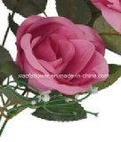 로즈 (XF30027)의 인공 플라스틱 또는 실크 꽃 단 하나 줄기