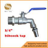 De salle de bains de Bibcock du robinet types en laiton ouverts de taraud d'eau vite