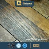 revestimento estratificado laminado de madeira de madeira raspado mão de 12.3mm HDF
