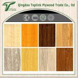 Placa colorida da madeira compensada do papel da melamina para a mobília