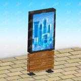 Двойник встал на сторону коробка напольного светлого Коробк-Scrolling света Коробк-Рекламы светлая