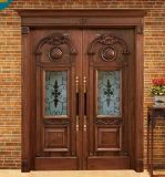 Горячая дверь хорошего качества сбывания 2016 внешняя деревянная для виллы (DS-1001)