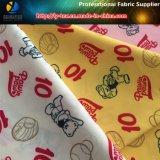 Impressão de urso de baseball em tecido têxtil tecido de pongee de poliéster