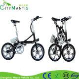 Una bici eléctrica tamaño pequeño plegable de la bici del segundo
