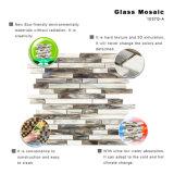 Umweltfreundliches Natur-Schwarz-graues farbiges Glas deckt Mosaik für Küche mit Ziegeln