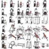 Banco 60 do declive dos bens Sporting da máquina da força do equipamento da aptidão da ginástica