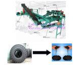 機械をのためのリサイクルする高出力の自動タイヤはゴム製粉を作る
