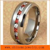 형식 빨간 지르콘 돌 스테인리스 티타늄 반지 (TR1823)