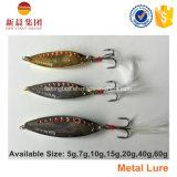 Attrait coloré de pêche en métal