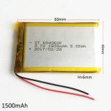 3.7V 1500mAh 604060 Lithium Polymer Lipo Batterie rechargeable Li Ion Cells pour MP3 DVD Pad Téléphone portable Appareil photo 6 * 40 * 60mm