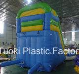使用される子供のためのプールが付いている膨脹可能な水スライド(RC-017)