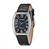 Senhora do relógio da promoção do aço inoxidável de couro genuíno 316L da forma de DIY
