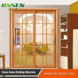 Алюминиевая полая двойная стеклянная раздвижная дверь