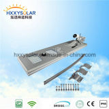 IP68 5W-120W integriertes LED Solarstraßen-Fühler-Licht mit Fernsteuerungs für Garten (HXXY-ISSL-5-120)