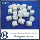 Sfera di ceramica dell'allumina di 99% con il foro come base di sostegno del catalizzatore