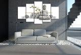 HD afgedrukt het Schilderen van Boedha van de Steen Canvas mc-053 van het Beeld van de Affiche van het Af:drukken van het Decor van de Zaal van het Af:drukken van het Canvas