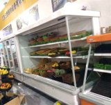 Abrir o refrigerador dianteiro de Multideck do indicador usado como o refrigerador da bebida
