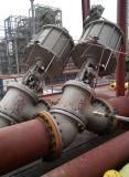 Tipo válvula Js45y-16c do globo do teste padrão da conexão Y da flange da engrenagem de sem-fim da pasta