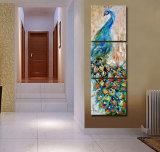 3 قطعات جدار فنية طاووس صورة زيتيّة جدار فنية طبعة صورة زيتيّة منزل زخرفة صورة طبعة على نوع خيش يشكّل فنية [مك-213]