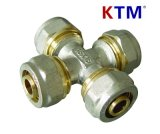 Ktm Brass Pipe Fitting Equal Cross of Pex-Al-Pex Pipe