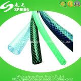 Mangueira de jardim de superfície lisa flexível do PVC da fibra