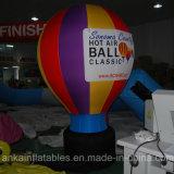 15FT Regenbogen-sehr großer aufblasbarer Bodenballon mit Fahnen-Firmenzeichen
