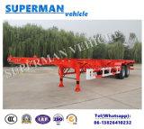 2 de Aanhangwagen van de Vrachtwagen van de Container van het Frame van het Skelet van de as 40FT voor Verkoop
