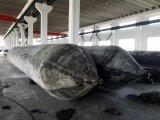 배 발사 및 회수를 위한 바다 에어백을 발사하는 CCS 배