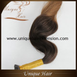 Preço de fábrica europeu das extensões do cabelo da queratina de Remy Balayage