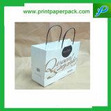 Aduana que graba el bolso impreso del cosmético del bolso de compras del bolso del regalo de la bolsa del papel de Kraft