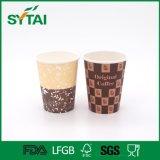Nuevas tazas de café dobles impresas Custome del papel de empapelar del estilo con las tapas