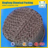 Embalaje estructurado acanalado gasa del alambre de metal del acero inoxidable