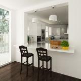 Australien-Projekt-weißer Lack MDF-Küche-Schrank (OP14-L01)