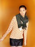Casaco de lã da caxemira com Polka DOT Printting