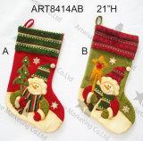 プラシ天の羊毛のクリスマスのホーム装飾のスノーマンのストッキング、3asst