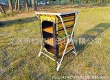 3 da prateleira Foldable de luxe do gabinete da tabela da unidade de armazenamento do armário do acampamento da prateleira gabinetes de cozinha fáceis da mobília do armazenamento