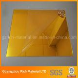 лист пластмассы зеркала 1220*1830*1.0mm золотистый акриловый