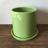 Handmade цветочный горшок зеленого цвета керамический для Succulent
