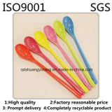 Inyección Plastic Factory Customized Safe y Cheap Disposable Colored Plastic Spoon