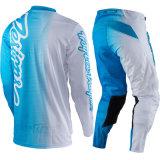 Голубой мотоцикл участвуя в гонке одеяние Motocross одежд костюма напольное (AGS06)