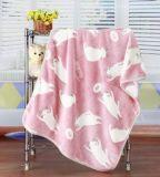 3D ha impresso la coperta del bambino della flanella del gatto del fumetto/manovella del bambino