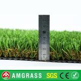 erba artificiale di figura di 30mm U e di figura della spina dorsale per il giardino