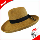 Chapéu largo da borda que orla o chapéu flexível